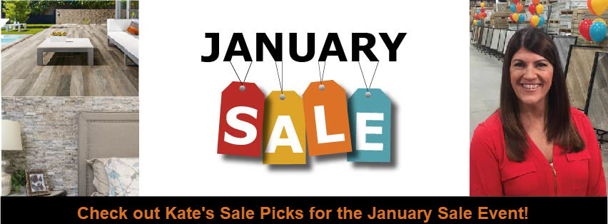 Discover Kate's January Sale Event Picks at Tile Outlets of America.