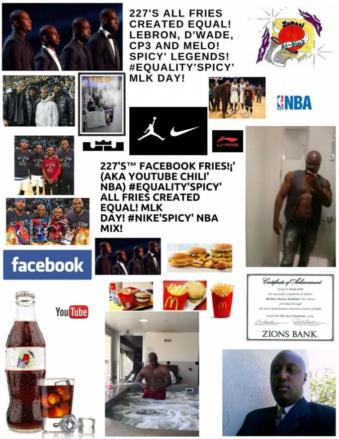 227's™ Facebook Fries!¡' (aka YouTube Chili' NBA) #EQUALITY'Spicy' Fries