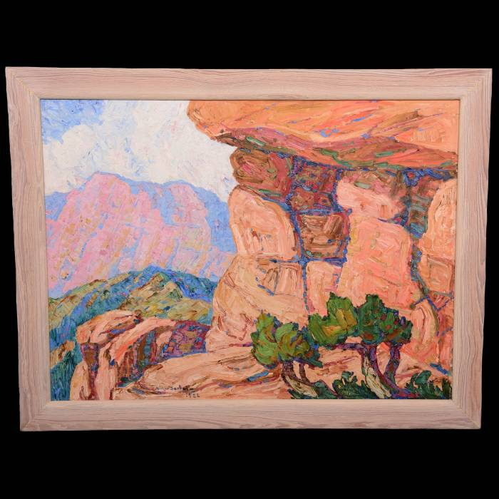 Four oil paintings by Swedish-born American artist Birger Sandzen will be sold.