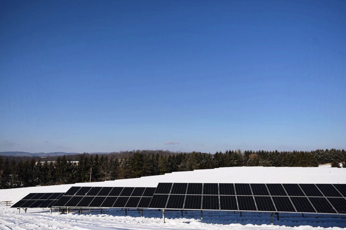 The solar array at the University Area Joint Authority