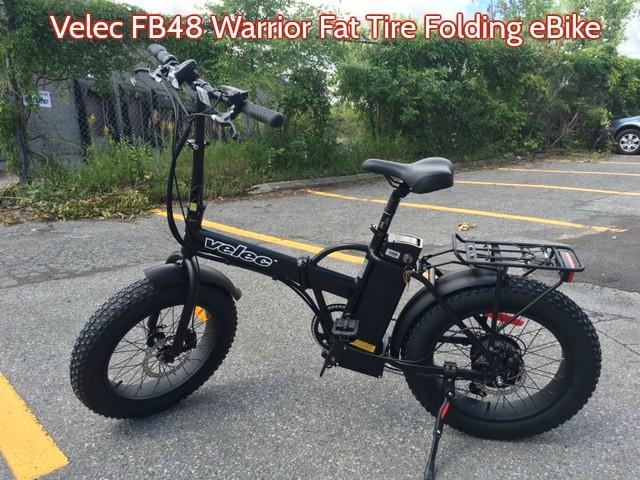Velec FB48 Warrior Fat Tire Folding eBike