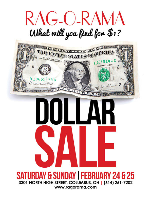 Rag-O-Rama Dollar Sale Columbus February 2018