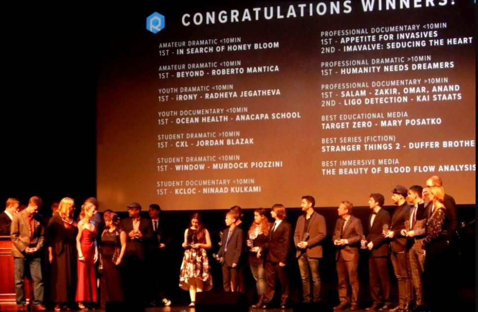 Raw Science Film Festival Winners Hold 3D-Printed Trophies from Dagoma USA