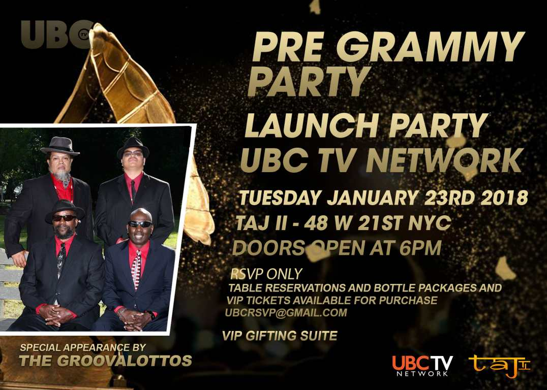 Pre-Grammy Party w/ Grammy Nominees, The GroovaLottos