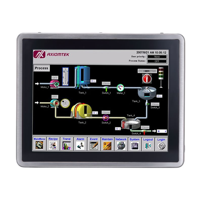 Axiomtek's latest stainless steel touch panel PC, the GOT815L-511