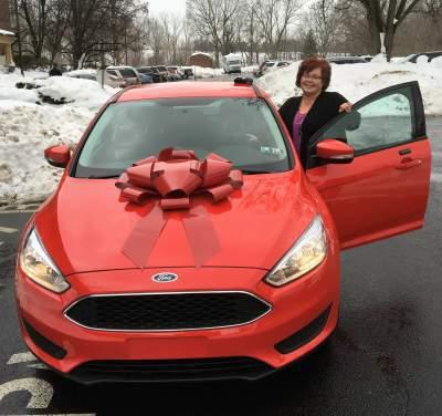 Tamara Wehler won new car in 2016 based on attendance at The Woods at Cedar Run