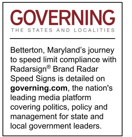 Radarsign Brand Radar Speed Signs and Betterton, MD in governing online