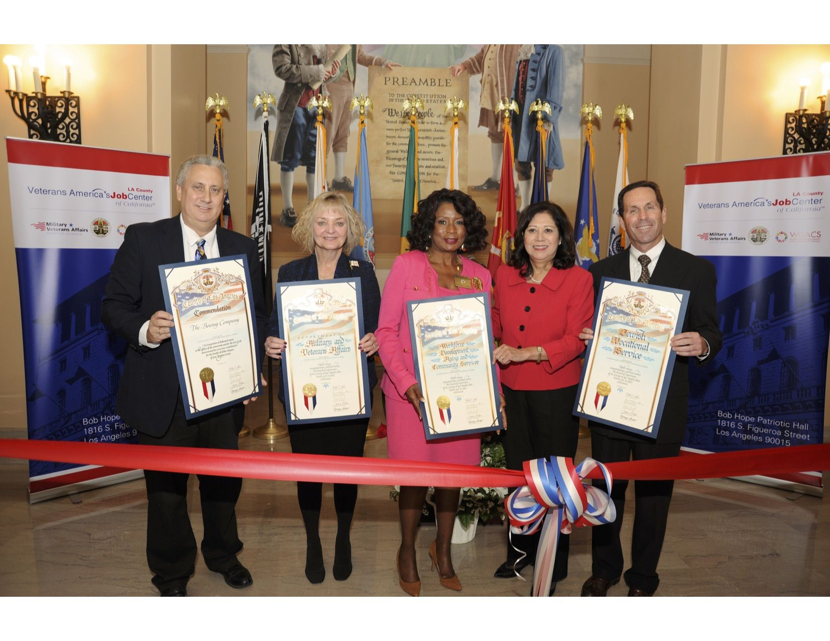 Grand Opening of LA County Veterans America's Job Center at Patriotic Hall