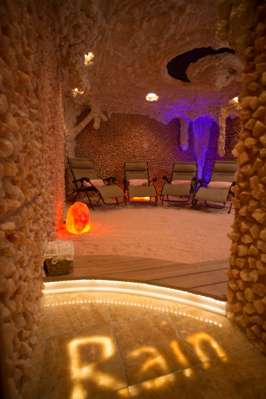 The Saltonstall Cave at Rain Wellness Spa in Branford, CT