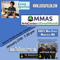 GroovaLottos & Luois Apollon in Concert @ Great Woods Jan. 27