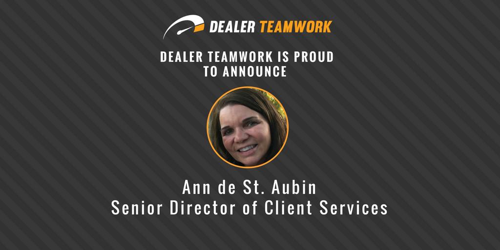 Ann de St. Aubin - Senior Director of Client Services