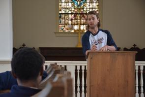 Josh Reddick Speaks at Bethesda Academy