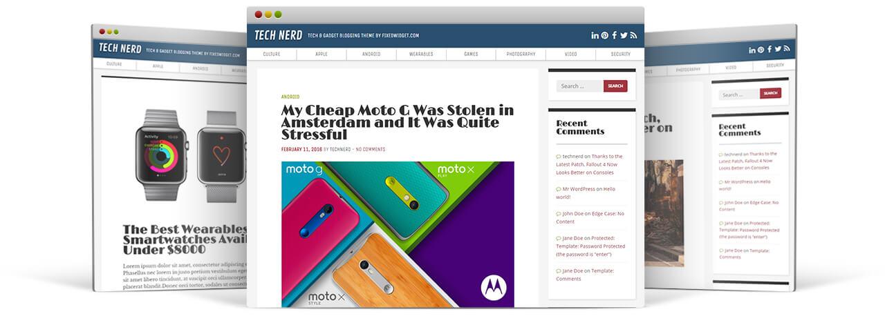 TechNerd - A free WordPress theme for tech blogs