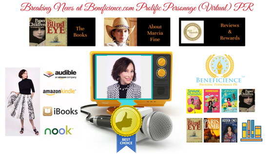 Beneficience.com PR Adds Multi AW Author PR Star Client Marcia Fine