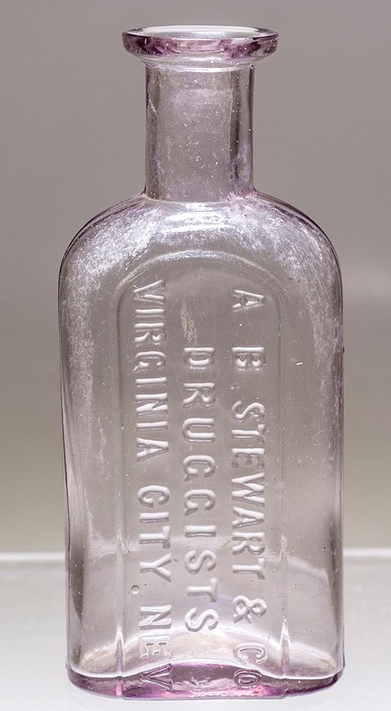 A. B. Stewart & Co. (Virginia City, Nev.) drug store bottle from 1877 ($2,250).