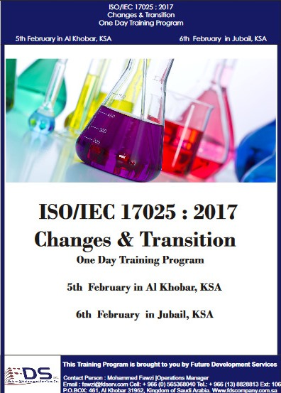 ISO 17025:2017_Changes Transition Training at Saudi Arabia