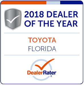 2018 Toyota Dealer of the Year, State of Florida