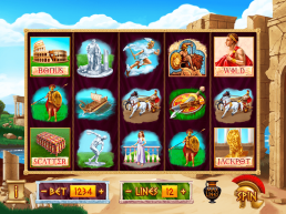 "Game design of the slot machine ""Roman Wealth"""