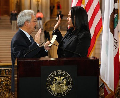 Sheryl Evans Davis  sworn in as ED of SF Human Rights Commission by Mayor Ed Lee