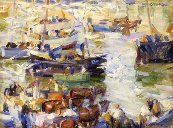 E. Charlton Fortune (1885-1969), Pilchard Boats.
