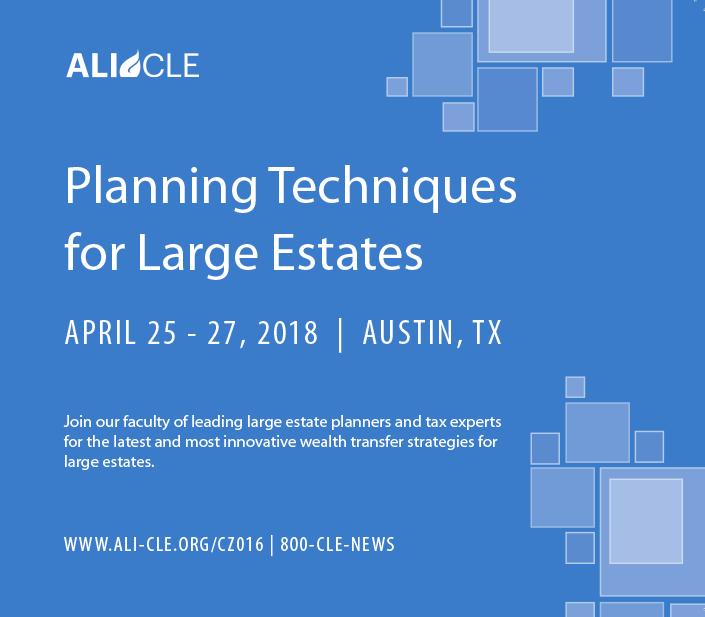 Planning for Large Estates