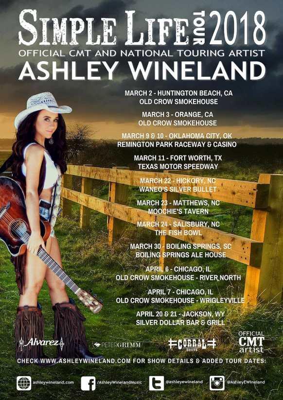 ASHLEY WINELAND SIMPLE LIFE TOUR 2018 DATES