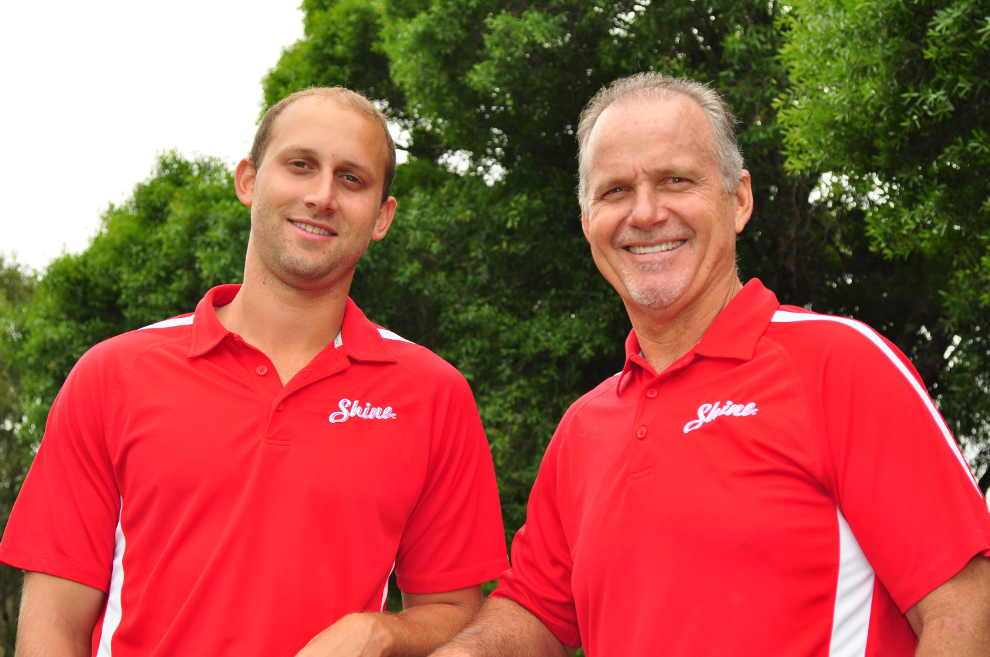 Brennen Melvin and Keith Melvin of Shine Window Care - Fort Myers