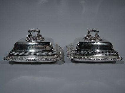 antique sterling silver regency covered dishes lon
