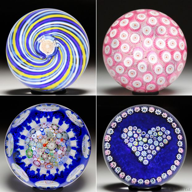 Antique Glass Paperweight Collection
