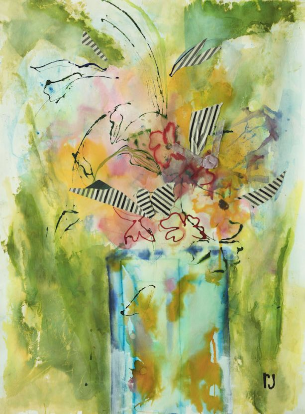 Romelia Jones_ A Gift for You_2017_watercolor and .