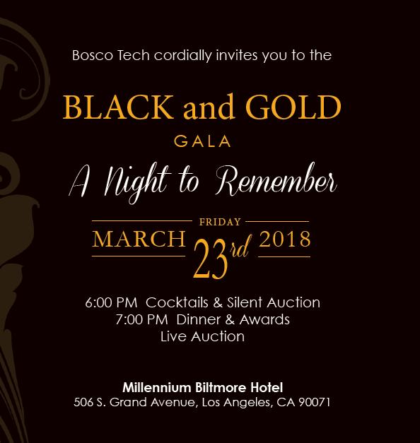 Bosco Tech Gala is March 23