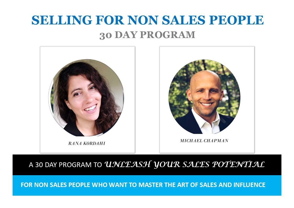 SELLING FOR NON SALES PEOPLE PROGRAM MC and RC Mar