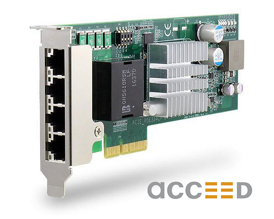 The new GigE PCIe-PoE334LP controller with PoE as a low-profile PCIe card