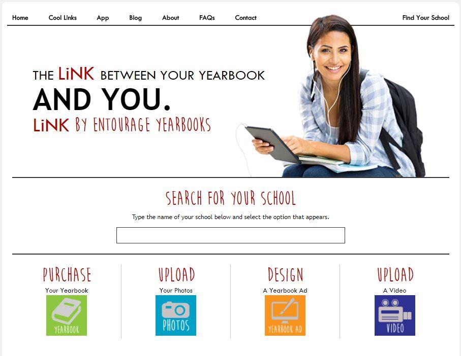 Entourage's Link Website Home Page