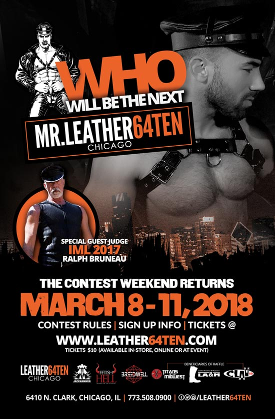 MR.LEATHER64TEN 2018 Contest Flyer