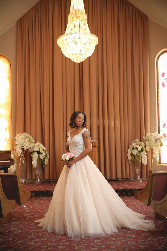 Gorgeous bride inside THE Wedding Chapel at Vegas Weddings