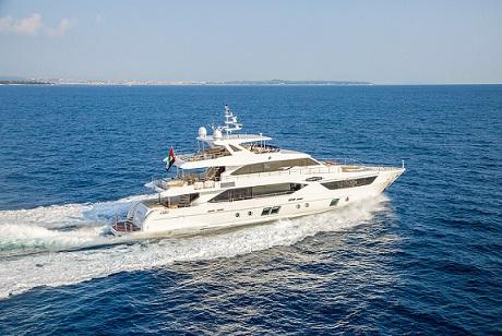 Majesty 110  at Tuzla Istanbul Boat Show