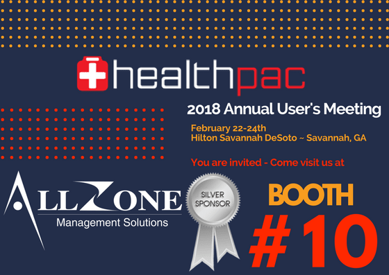 2018 Healthpac Users Meeting - Allzone Booth 10