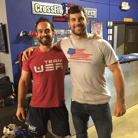 Matt With Rich Froning