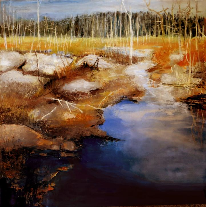 "Patricia Chandler ~ ""Marsh V"" Oil on Panel 24"" x 24"""