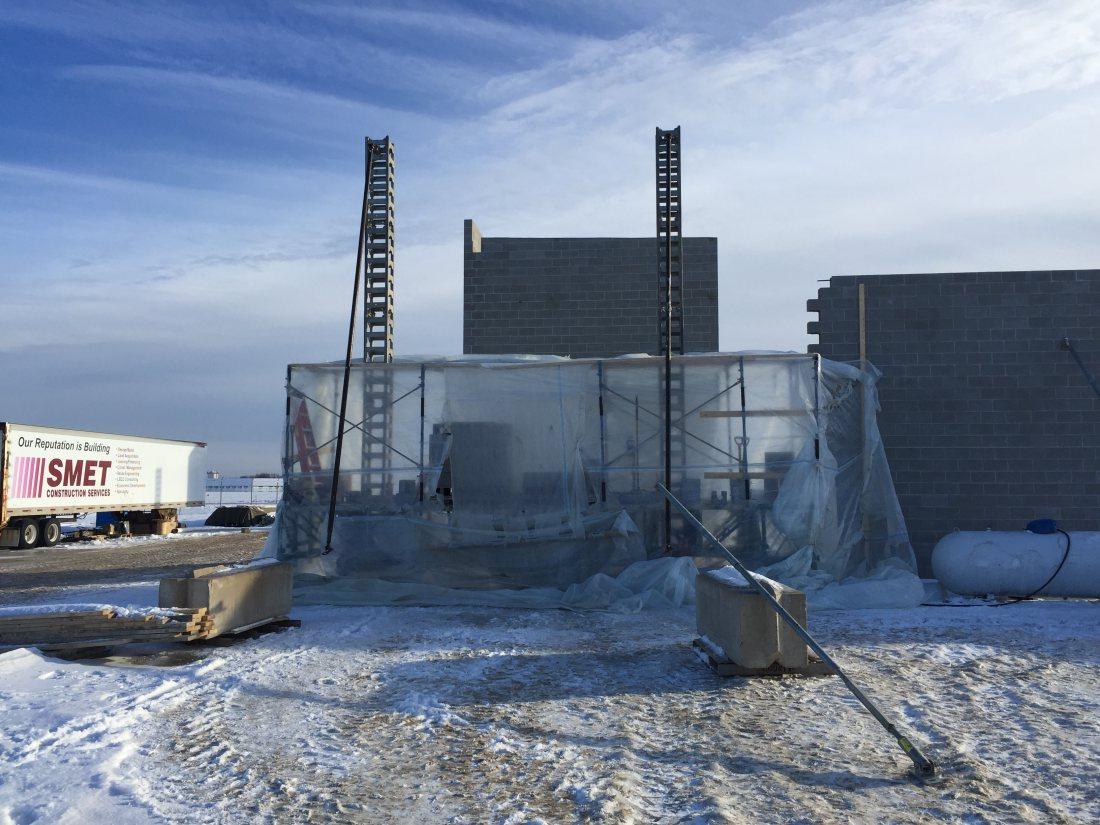 Smet winter construction