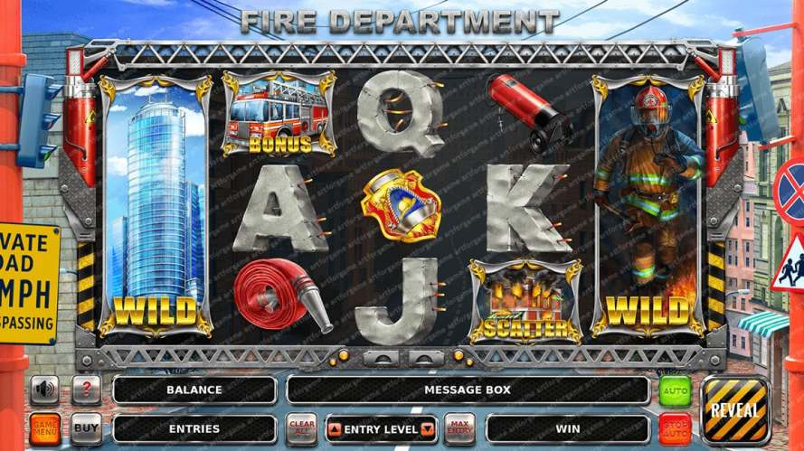 "Graphic Design for the slot machine ""Fire Department"""