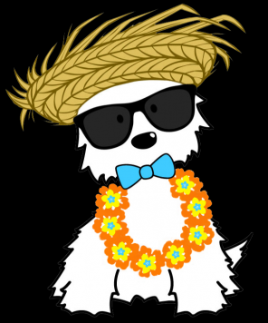 """Luau Time"" by Einstein Pets #luauwitheinstein"