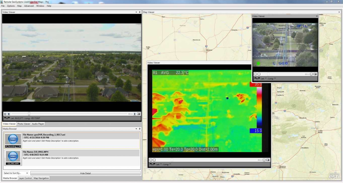 LineVision Helicopter-Drone GIS Software