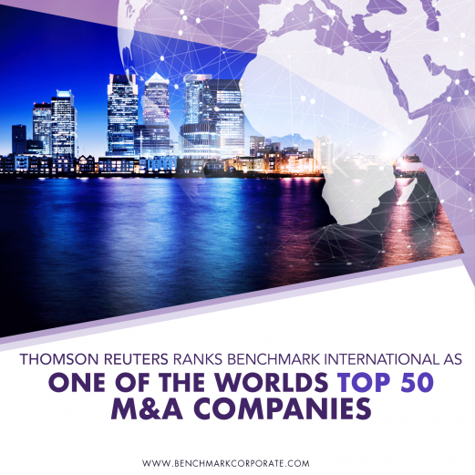 Thomson Reuters Ranks Benchmark International as one of the Worlds Top 50 M&A