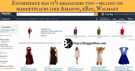 Ecommerce has its headaches too- selling on market