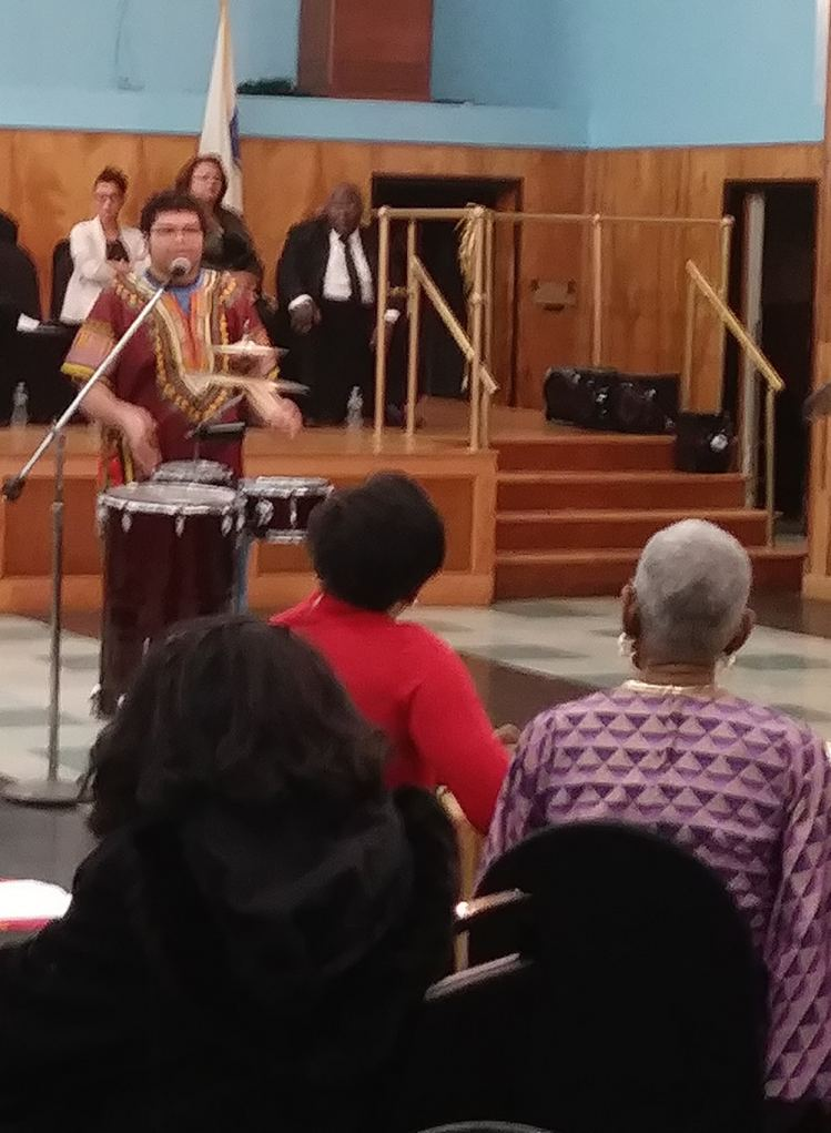 The ZYG 808 performing for Prince Hall's Black History Month Program