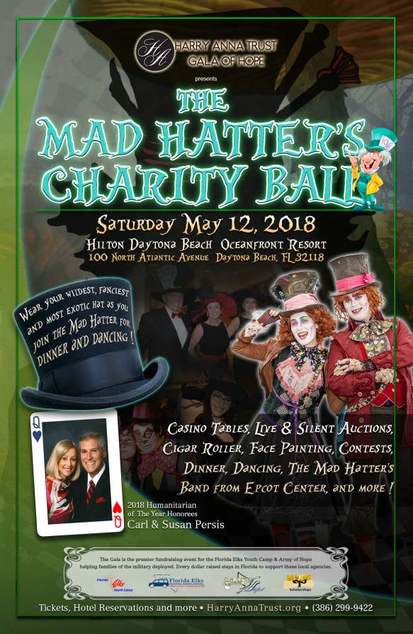 The Harry Anna Trust will host a Mad Hatter themed gala on May 12.