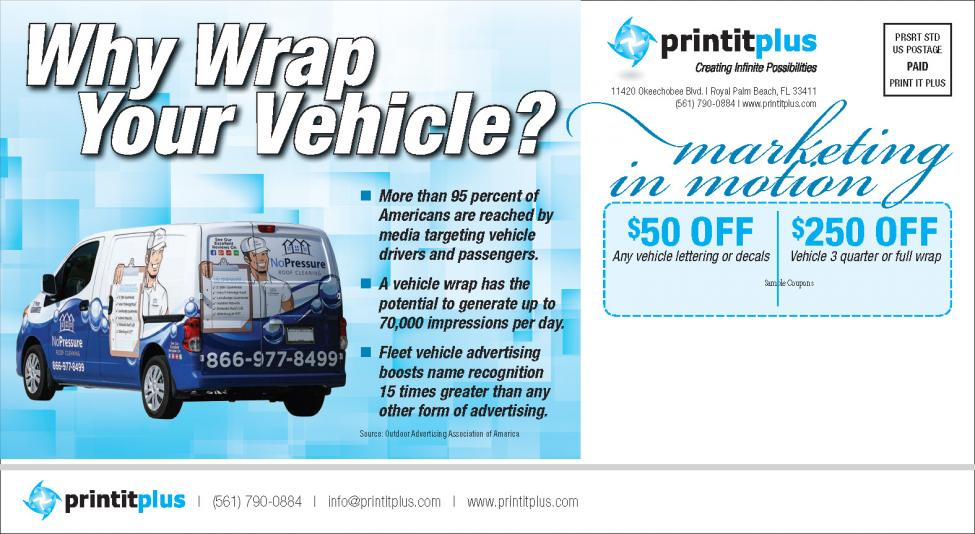 Print It Plus coupons - vehicle wraps, decals, lettering