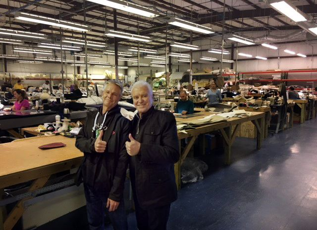 Pat Moynihan and Don Gioia in their current Palm Coast warehouse.
